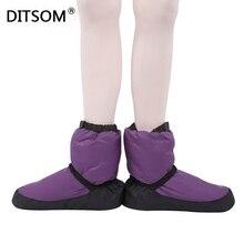 2020 Elasta הנעל בלט חם Ups עבור נשים בלט Pointe ריקוד נעלי חורף תרמית למטה מגפי גבירותיי סגול שחור