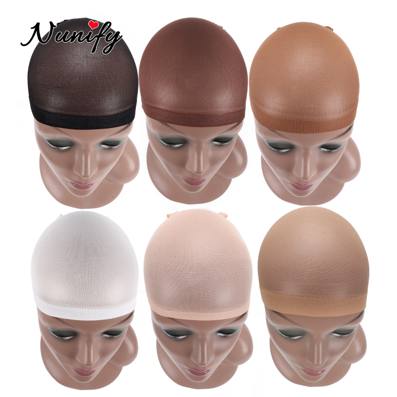 5Pack 10Pcs Hair Net Nunify Nude Wig Cap Breathable Thin Comfortable Wig Accessories Elastic Dome Stocking Cap For Women
