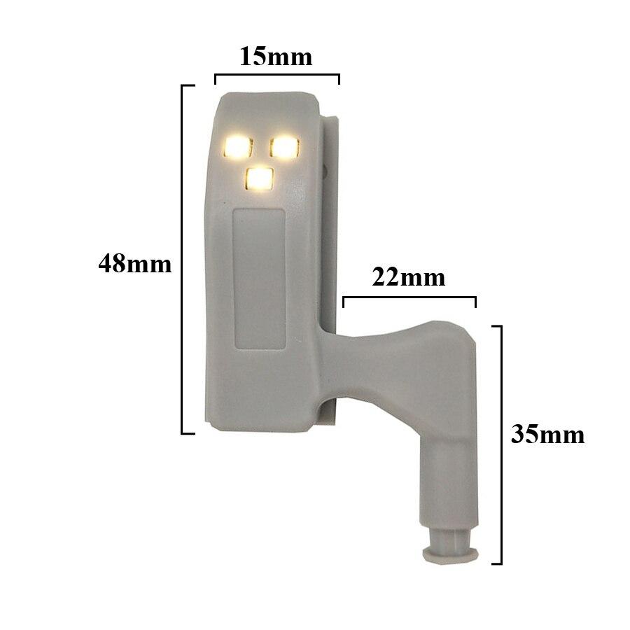Thrisdar 10 шт. светодиодная подсветка под шкаф Универсальный шкаф внутренняя петля Ночной светильник лампа для шкафа Шкаф Кухня