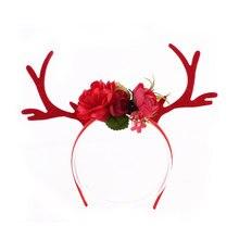 Рождественское украшение оленьи рога Ушная повязка на голову обруч для волос вечерние Детские ободки для волос подарки