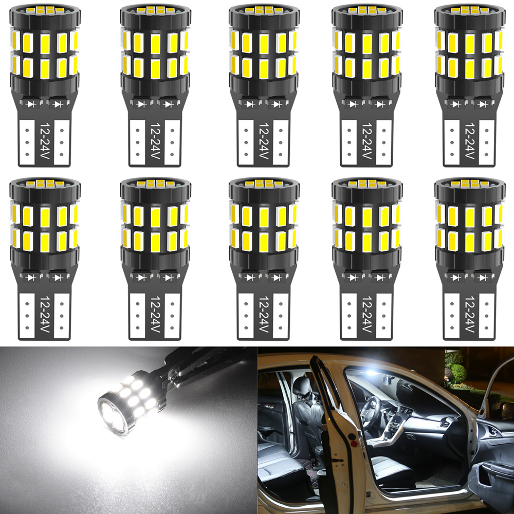 10 Pieces LED T10 W5W LED Canbus Car Interior Lights for Volkswagen Polo Golf 4 5 6 7 GTI Passat B6 B5 JETTA MK5 MK6 CC Touareg