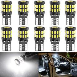 10 Pieces LED T10 W5W LED Canbus Car Interior Lights for Volkswagen Polo Golf 4 5 6 7 GTI Passat B6 B5 JETTA MK5 MK6 CC Touareg