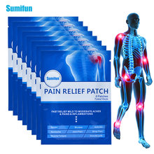 Sumifun 64pcs blue muscle pain relief patch wrist bruises body