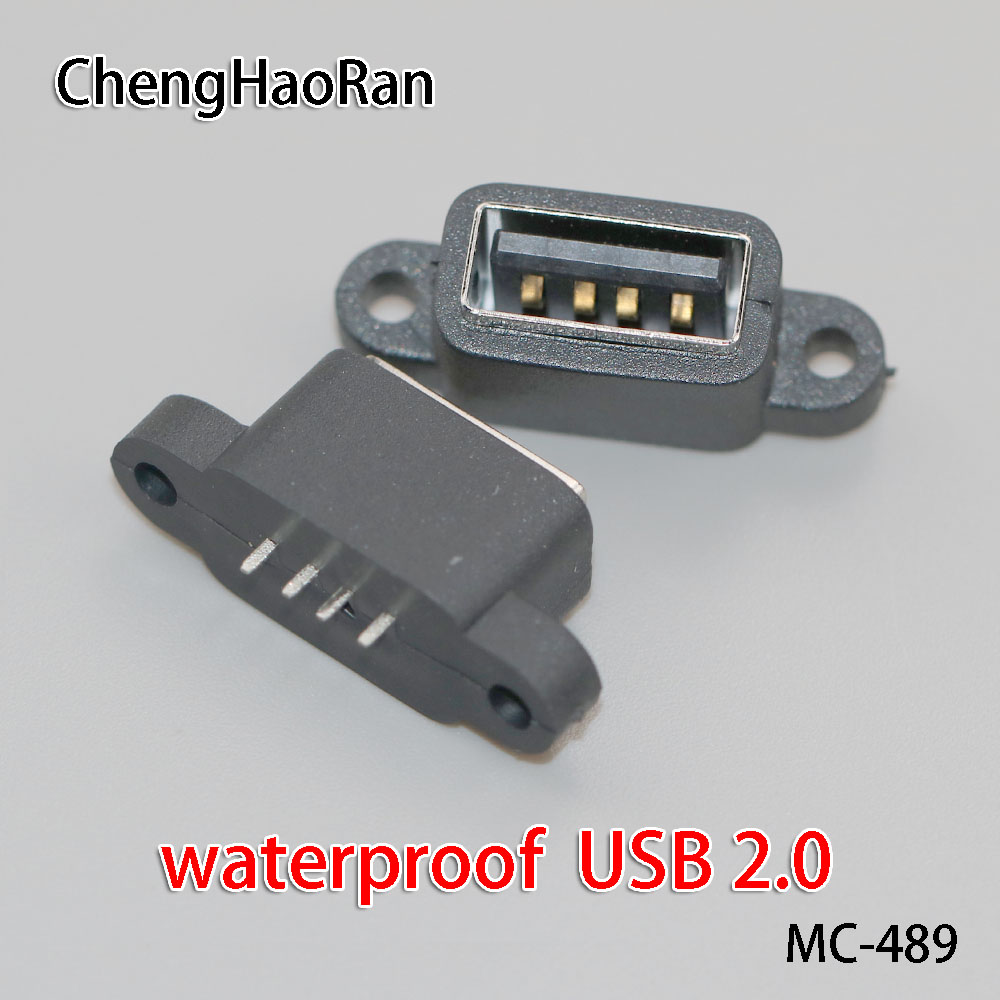 50PCS/lot Micro usb built-in interface Port Connector Plug Jack Socket Waterproof USB 2.0 charging data tail plug-in replace image