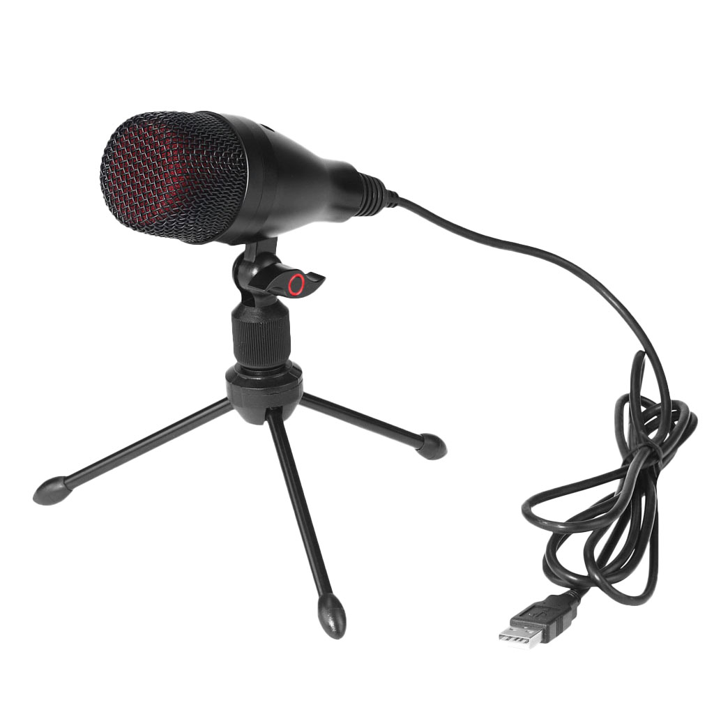 USB Camera for Skype Desktop MagiDeal 3.5mm Studio Microphone Mic w// Stand