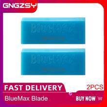 2個bluemaxゴムスクレーパーウィンドウスキージ刃ガラスクリーナービニールティントフィルムツールステッカーリムーバー車のクリーニングアクセサリーB02