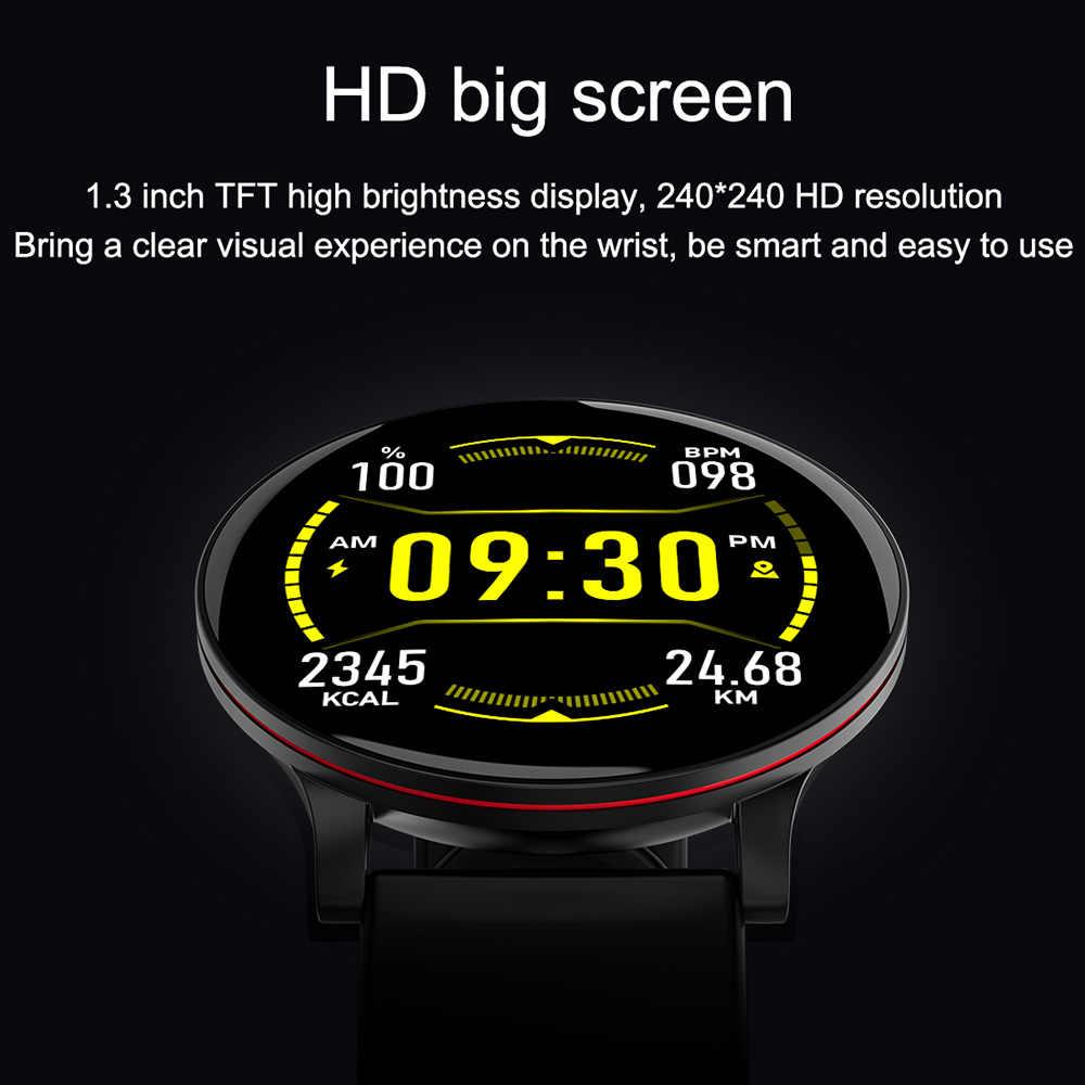 LEMFO ساعة ذكية الرجال كامل شاشة تعمل باللمس معدل ضربات القلب مراقبة ضغط الدم الطقس Forcast تحكم بالموسيقى الرياضة ساعة ذكية النساء