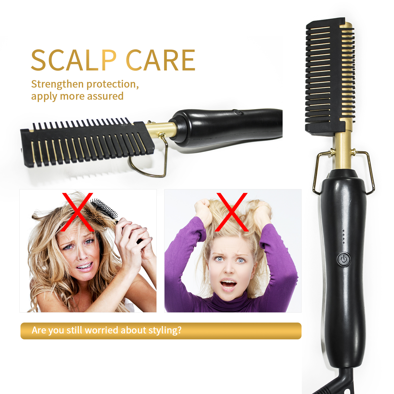 ferro pente alisador de cabelo escova