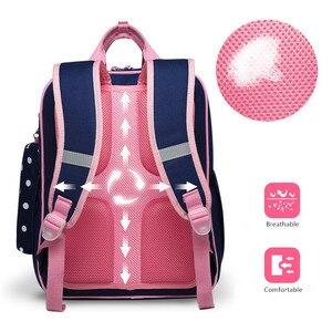 Image 3 - OKKID high quality kids orthopedic school backpack for girls school bag girl schoolbag children book bag set cute pencil case