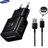 Samsung 9V1.67A 15W caricabatterie rapido adattivo Usb adattatore di ricarica rapida tipo C cavo per Galaxy S10 S10E S9 S8 Plus nota 8 9 A8 A50