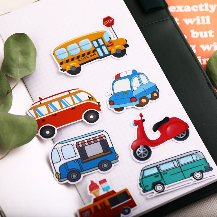 20PCCar Stickers Crafts And Scrapbooking Stickers Kids Toys Book Decorative Sticker DIY Stationery