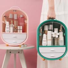 Akrylowe dwudrzwiowe pudełko na kosmetyki o dużej pojemności biżuteria organizer na kosmetyki przenośna wodoodporna torba na kosmetyki pojemniki na biurko tanie tanio desktop storage box
