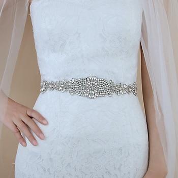 TRiXY S123 Vintage Belt Wedding Sash Belt Rhinestones Belt Bridal Belt Wedding Belt Bridal Ribbon Sash Belt Silver Diamond Belt belt matilde costa belt