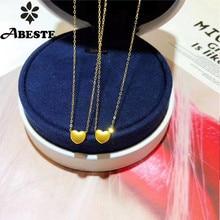 ANI 18K Au750 Solid Yellow Gold Chain Women Engagement Necklace Mini Style Birthday Gift Heart Shape Fashion 24k Gold Pendant цена 2017
