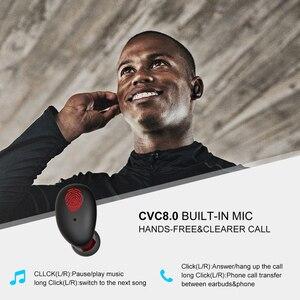 Image 5 - Whizzer B6 prend en charge les écouteurs sans fil Aptx/AAC TWS True avec 4 Microphones CVC 8.0 réduction du bruit, 80H Playtime IPX7 étanche