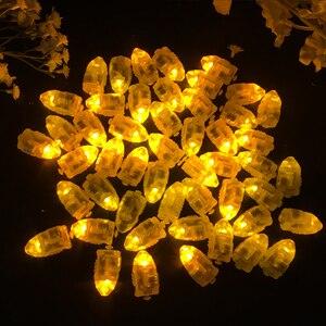 Image 5 - 100 Cái/lốc LED Flash Đèn Bóng Đèn Lồng Đèn Giấy Bóng Trắng Vàng Hoặc Nhiều Màu Cho Tiệc Cưới