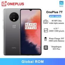 Küresel sürüm OnePlus 7T Smartphone 8GB 128GB 6.55 ''Snapdragon 855 artı Octa çekirdek NFC akıllı telefonlar 48MP üçlü kameralar 3800mAh