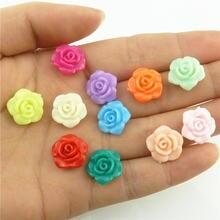 18785 50 шт/лот 13 мм Пластиковые акриловые разноцветные цветы