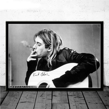 Kurt Cobain Rock Music Band Music Singer Star Wall Art Picture Posters and Prints Canvas Painting for Room Home Decor