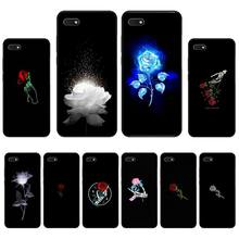 beautiful black white Rose flower Newly Arrived Black Cell Phone Case For Huawei Honor 7C 7A 8X 8A 9 10 10i Lite 20 NOVA 3i 3e for huawei honor mate 7c 7a 8 8x 9 9n 10 20 nova 3 3e 3i pro lite black silicon phone case adventure time style