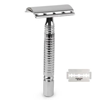 Double Edge Razor Wet Shaving For Men Women Classic 3-Piece Stainless Steel Safety Razor