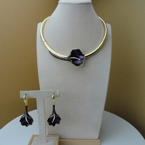 Image 4 - Yuminglai Dubai beaux bijoux belle fleur Rose bijoux pour les femmes FHK9553