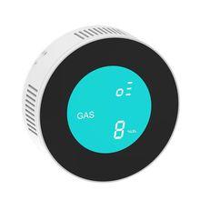 Умный беспроводной Wi-Fi детектор газа утечки газа датчик сигнализации для домашней безопасности дистанционное управление гаджеты с управлением приложением