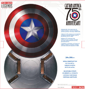 Image 2 - 75TH America Cosplay Props Adult Shield 1:1 Replica+Adjustable Strap