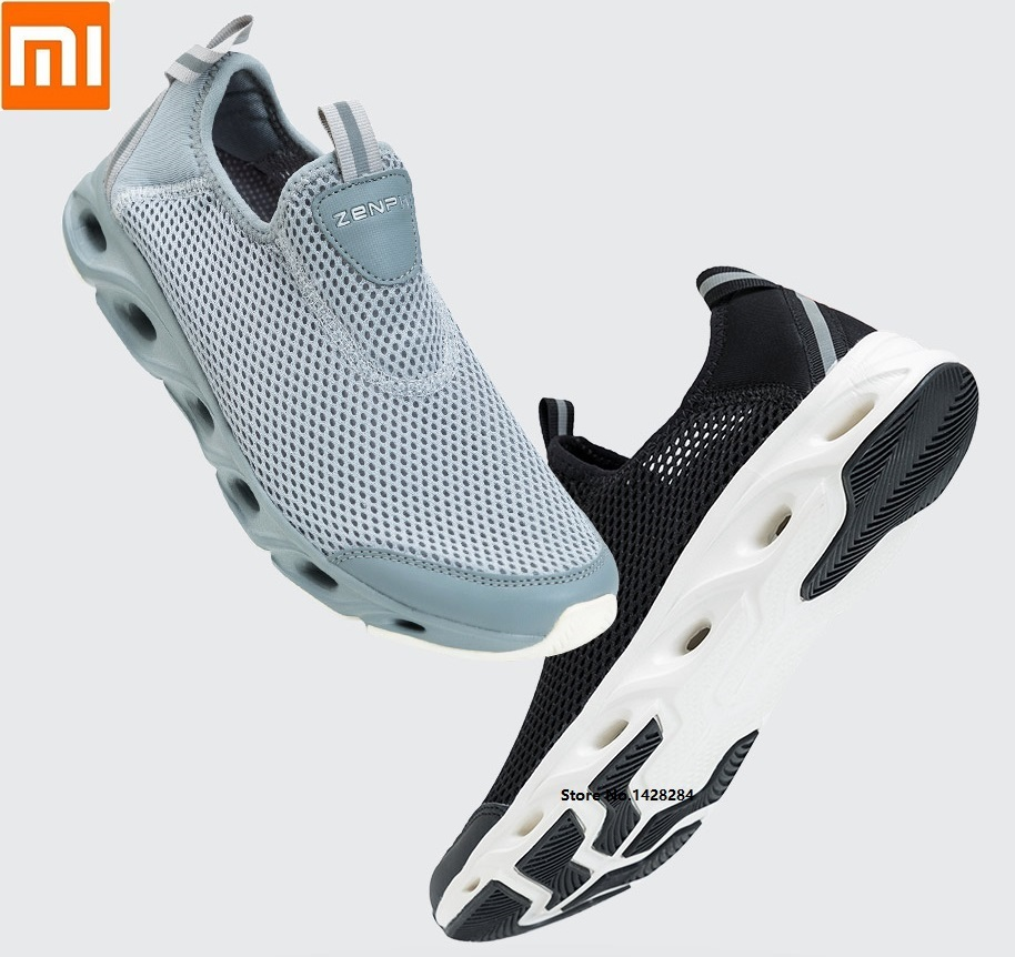Xiaomi ZENPH Men Lightweight Non-slip Breathable Shoes Mesh Quick Drying Non-slip High-elastic Cushioning Comfortable Sneakers