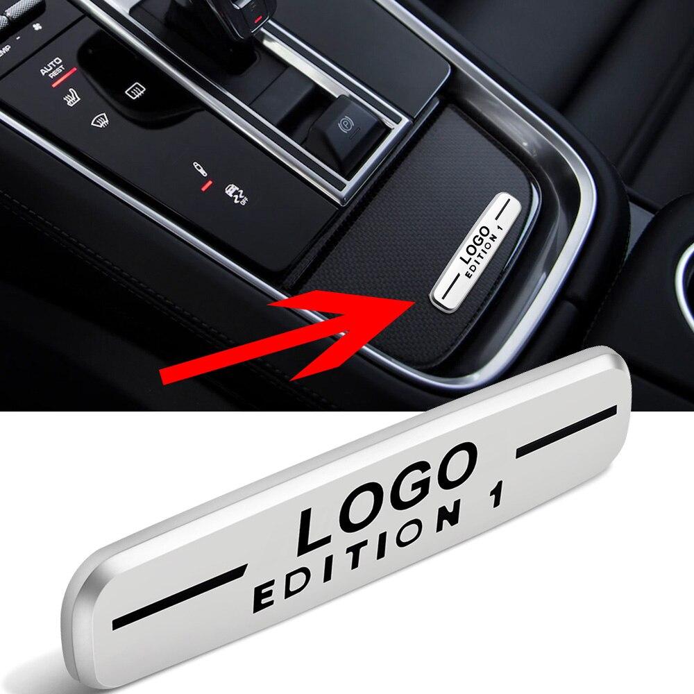 Автомобильная центральная консоль для AMG EDITION 1, 2-100 шт., наклейка с логотипом для Mercedes Benz A B C E S Class CLA CLK GLA GLB GLC GLE GLK GLS GL