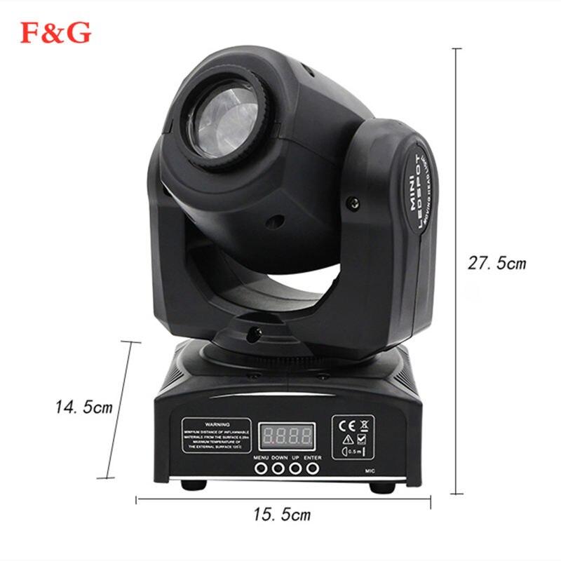 Mini punto 60W LED Luz de cabeza móvil con placa Gobo y placa de Colore, luz de cabeza móvil Mini Led 60W di alto brillo DMX512