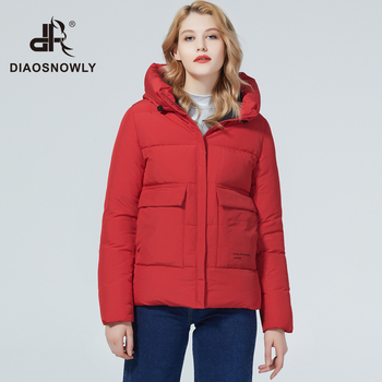 Diaosnowly 2020 new thick winter jacket women short parka winter brand bio cotton jacket coat short outwear for women fashion warm coat female winter clothes woman parkas short 2020 parka winter women jacket fur collar hooded winter warm thick short parka winter coat outwear jacket