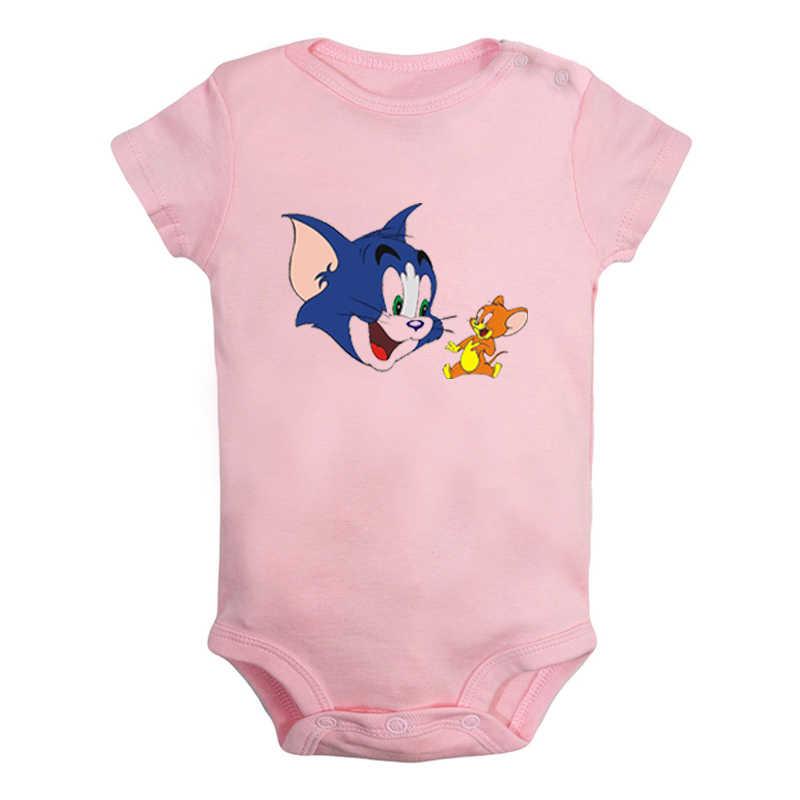 חתול טום וג 'רי עכבר אלאדין קסם מנורת עיצוב יילוד תינוק בני בנות תלבושות סרבל הדפסת תינוקות בגד גוף בגדים