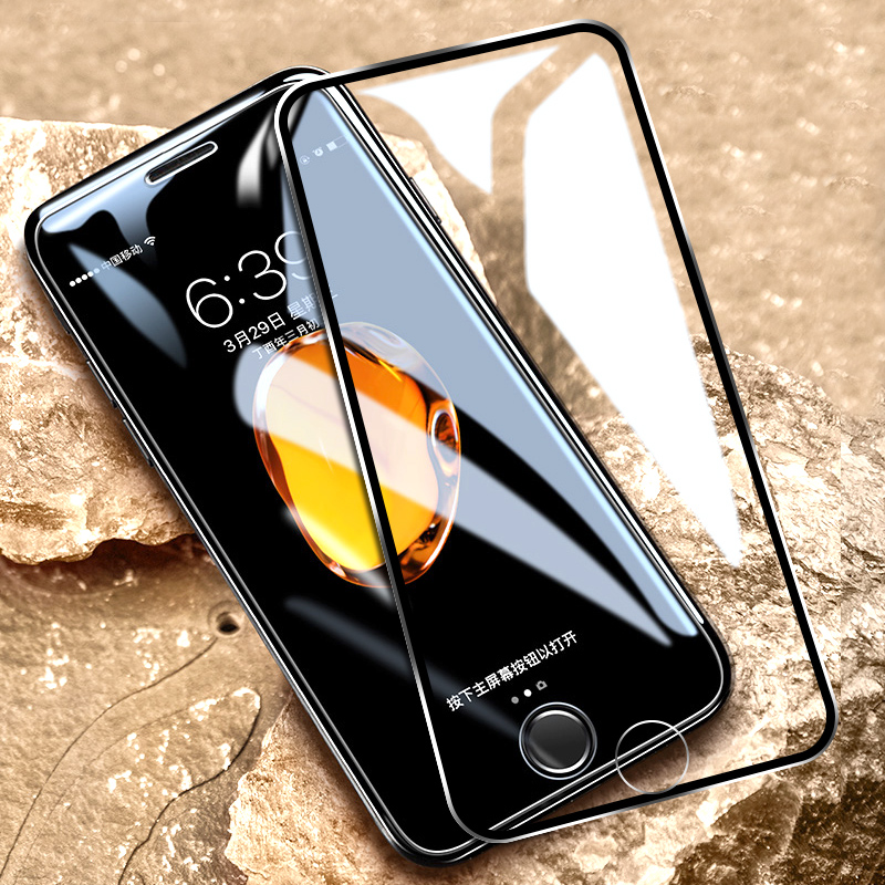 45D Aluminum Alloy Metal Edge Tempered Glass For On IPhone 5 SE 6 6S 7 8 Plus X Screen Protector Protective Glass On IPhone 6 7