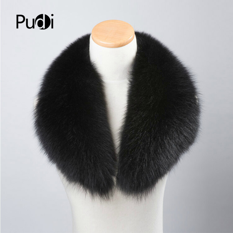 CLF004-1 Genuine Winter Women Fox Fur Scarf Scarves Wrap Neck Warmer Shawl Collar 90cm