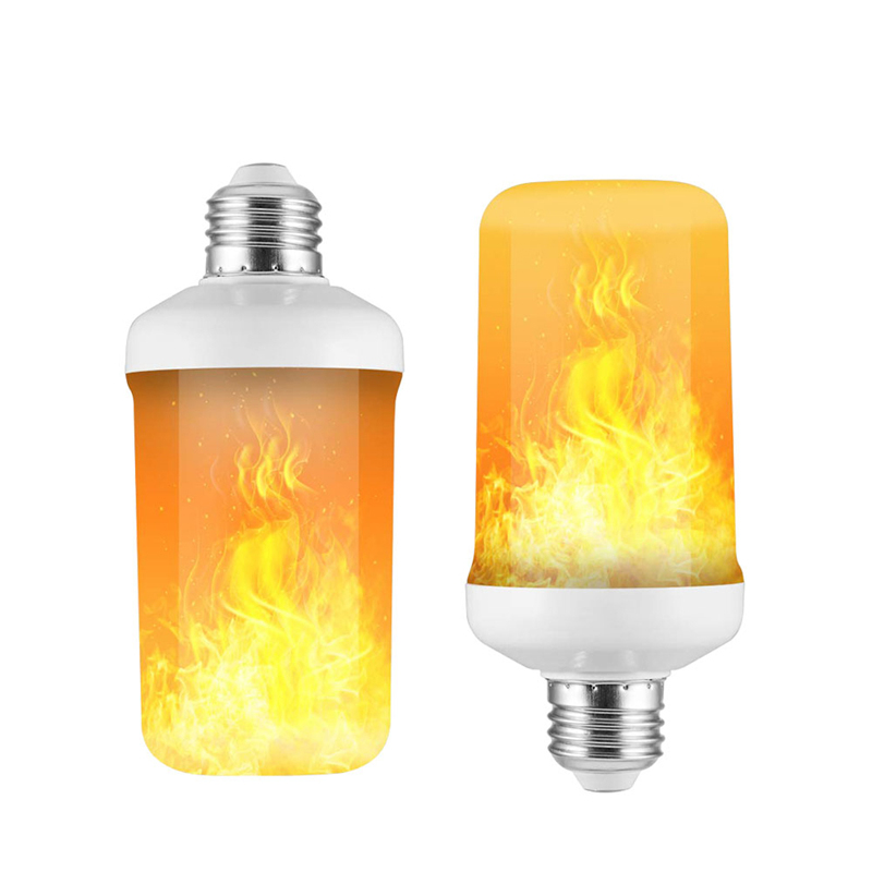 1 Pack Konesky Portable Flame Light Rechargeable Flickering Fire Light Bulb Hanging Camping Tent Lamp with 3 Modes Flickering Flames Effect Atmosphere Lighting for Christmas Hotel Bar