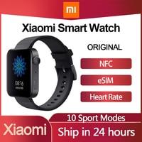 Xiaomi-reloj inteligente MI, pulsera con GPS, NFC, WIFI, ESIM, llamadas telefónicas, Android, respuesta, Bluetooth, Monitor de ritmo cardíaco y Fitness