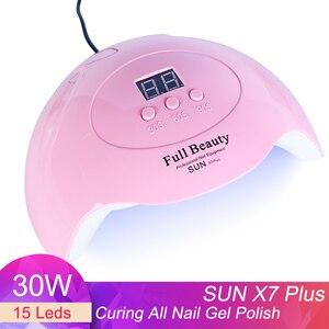 30 Вт Светодиодная УФ-лампа для ногтей сушилка для маникюра гелевые лампы Набор солнцезащитный светильник для сушки отверждения ногтей лак ...