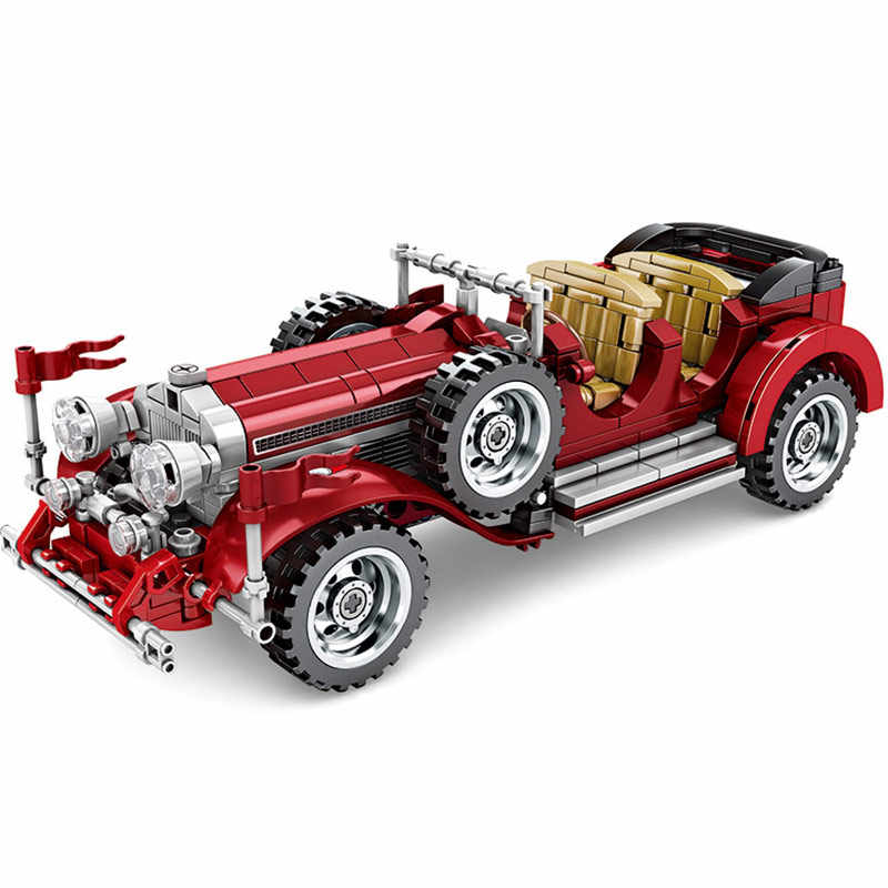 Creatore Technic Vintage Roadster Auto Compatibile Legoings Classic Roadster Auto Building Blocks Giocattoli Dei Mattoni Regali Di Natale