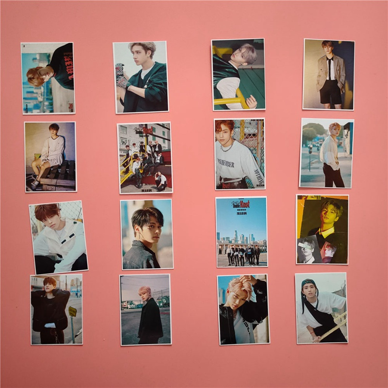 16pcs/set Kpop Stray Kids Photo Card Double Knot Album Lomo Card Photocard Kpop Stray Kids New Arrivals