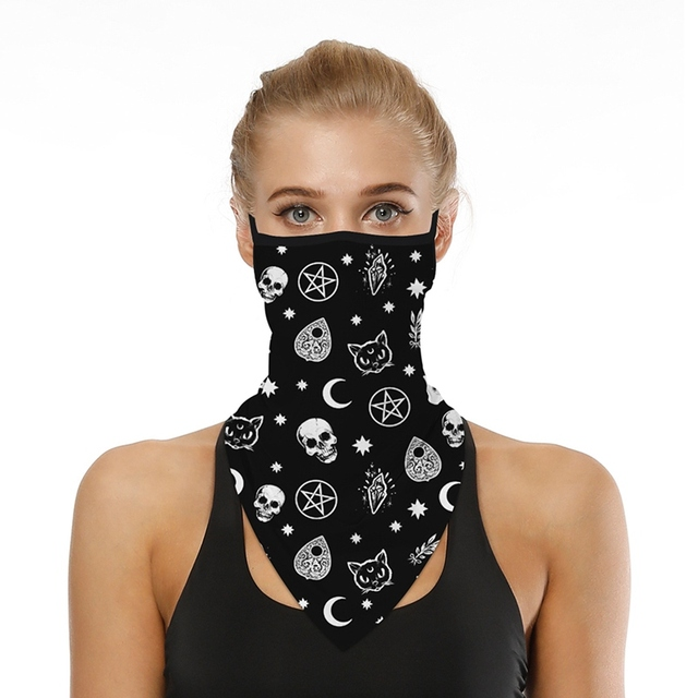 Outdoor Riding Triangle Scarf Sunscreen Breathable Mask Magic Turban Digital Printing Men And Women Models Women's Men's Hood 2