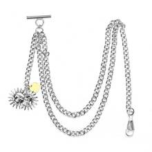 Necklace-Chain Pocket for Men Women Jean-Strap Belt-Decor Silver/gold Watch-Holder 35cm