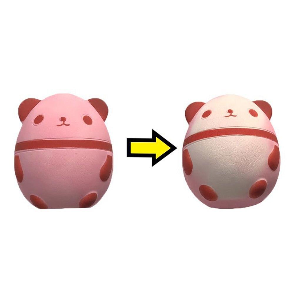 Мягкая медленно отскакивающая обесцвечивающаяся панда яйца игрушка медленное отскок обесцвечивающаяся панда Моделирование яиц модель