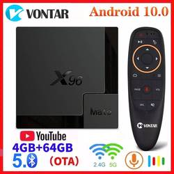 Vontar Smart Android 10,0 TV BOX X96 Mate Мини TV BOX Android 10 4G/64G 2,4G и 5G двухъядерный процессор Wi-Fi X96Mate 6K Media Player PK H96 MAX TX6S