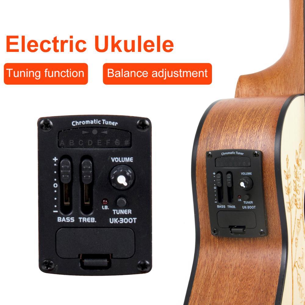 Image 2 - Kmise Solid Spruce Ukulele Concert Electric Acoustic Ukelele Uke 23 inch with Gig Baguke