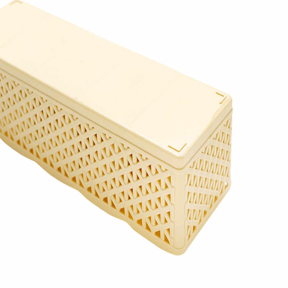 5 zellen Kunststoff Organizer Lagerung Box Krawatte Bh Socken Schublade Kosmetische Teiler Qualität Housekeeping Behälter Organisatoren Neue
