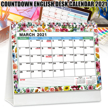 2021 Desk Calendar Colorful Monthly Calendar Perfect for School Office Home Planning UY8