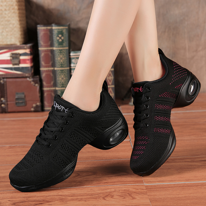 Square Dance Shoes Female Adult Dance Shoes Netted Jazz Soft Bottom Four Seasons Dance Shoes