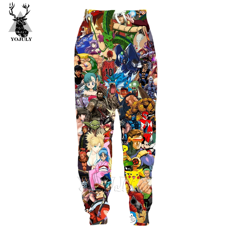 Hot Sale Pokemon Pants Funny Fashion Men's Trousers Child 3D Print Sports Joggers Sweatpants Kids Girl Unisex Hip Hop Streetwear