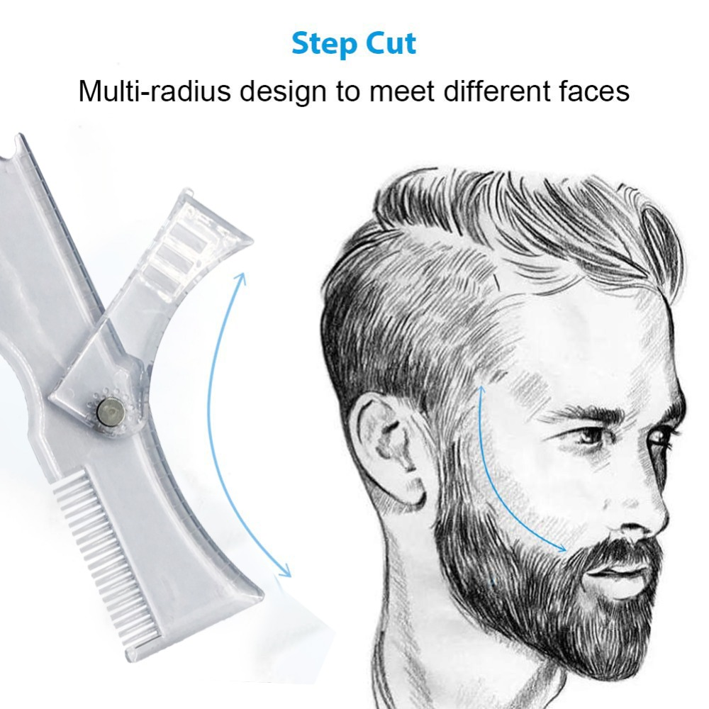 2019 Beard Template Shaping Tool Double Sided Beard Comb Shaving & Hair Removal Razor Tool For Men Barber Shaving Comb